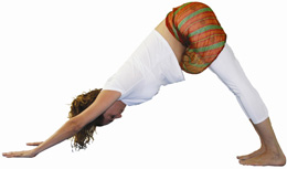 yoga posição adho mukha svanasana