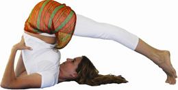 yoga posição halasana