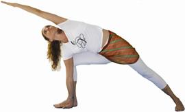 yoga posição parsvottana