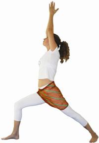 yoga posição virabhadrasana i